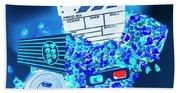 Blue Screen Entertainment Bath Towel