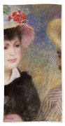 Boating Couple  Said To Be Aline Charigot And Renoir      Bath Towel