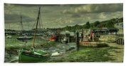 Boats At Leigh On Sea  Hand Towel