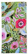 Bohemian Bird Garden Bath Towel