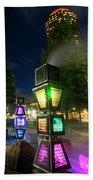 Boston Colored Steam Lights Boston Ma Rose Kennedy Greenway Steamy Bath Towel