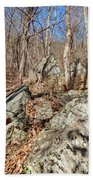 Boulders Along The Trail Bath Towel