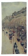 Boulevard Montmartre - Afternoon, In The Rain, 1897 Bath Towel