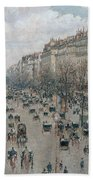 Boulevard Montmartre - Afternoon, Sunlight, 1897 Bath Towel
