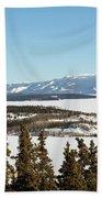 Bove Island On Windy Arm In Tagish Lake Yukon Bath Towel