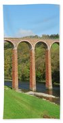 bridge over river Tweed near Melrose Bath Towel