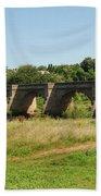 bridge over river Tyne at Corbridge in summer Bath Towel