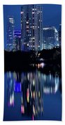 Bright Blue Hour In Austin Hand Towel