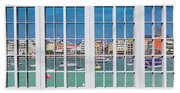 Brilliant Bermuda Cityscape Windows Hand Towel