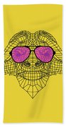 Buffalo In Pink Glasses Hand Towel