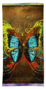 Butterfly Abstract Bath Towel