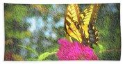 Butterfly Likeness  Bath Towel