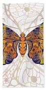 Butterfly Zen Meditation Abstract Digital Mixed Media Artwork By Omaste Witkowski Bath Towel by Omaste Witkowski