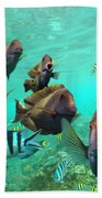 Butterflyfish And Sergeant Major Bath Towel