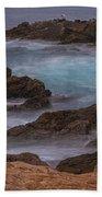 California Coastal Water Motion Hand Towel