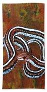 California Garter Snake Bath Towel