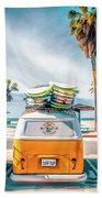 California Surfer Van Bath Towel by Christopher Arndt