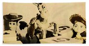 Cartoon Character Cowboys And Cowgirls Bath Towel