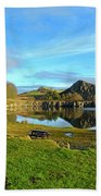 Cawfield Quarry And Hadrians Wall In Northumberland Hand Towel