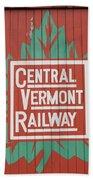 Central Vermont Railway Bath Towel