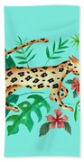 Cheetah's Hunt Bath Towel