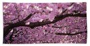 Cherry Blossom Tree Panorama Hand Towel