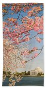 Cherry Blossoms At The Tidal Basin Bath Towel
