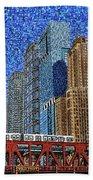 Chicago Wells Street Bridge Hand Towel