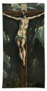 Christ On The Cross, 1610 Bath Towel