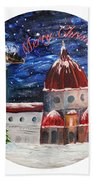 Christmas Greeting In Florence  Hand Towel