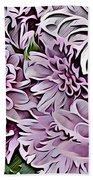 Chrysanthemum Abstract. Bath Towel