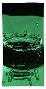 Circle Water Dance Green Bath Towel
