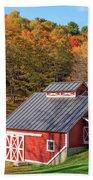 Classic Vermont Maple Sugar Shack Square Hand Towel