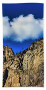 Clouds Abover Upper Yosemite Fall Bath Towel