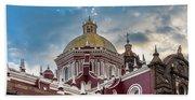 Clouds Over Puebla Cathedral Bath Towel