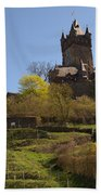 Cochem Castle And Vineyard In Germany Bath Towel