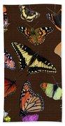 Collage Of Ca Butterflies Bath Towel