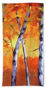 Color Forest Landscape Hand Towel