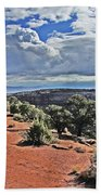 Colorado National Monument Trees Rock Formations Clouds 3001 Hand Towel