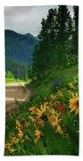 Colorado Wildflowers Bath Towel by John De Bord
