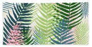 Colorful Palm Leaves 2- Art By Linda Woods Hand Towel
