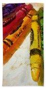 Colorwheel Crayons Bath Towel