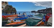 Colourful Boats Hand Towel