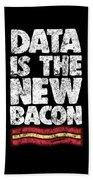 Computer Big Data Bacon Geek Pun Apparel Bath Towel