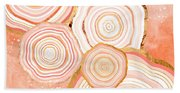 Coral Agate Abstract Bath Towel