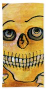 Corazon Sugarskull Holding Rose Hand Towel