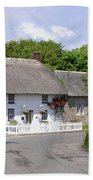 Cornish Thatched Cottage Bath Towel