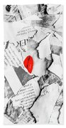 Cosmetic Collage Hand Towel