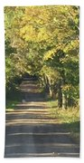 Country Road In Fall Bath Towel