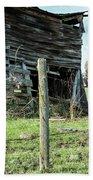 Cow By The Old Barn, Earlville Ny Bath Towel by Gary Heller